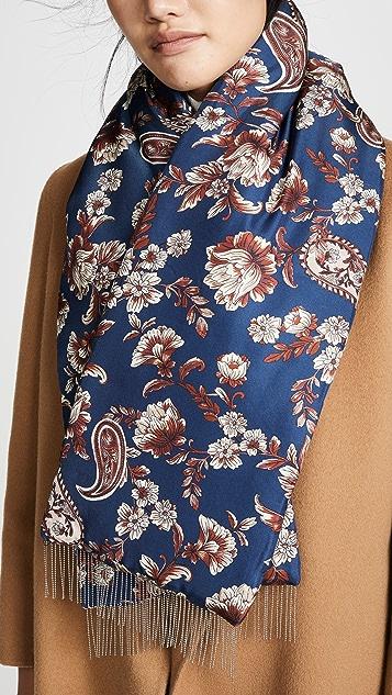 3.1 Phillip Lim Silk Floral Puffer Scarf
