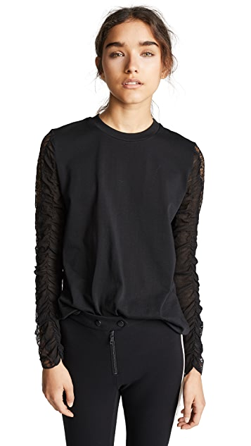 3.1 Phillip Lim T-Shirt with Lace Sleeves