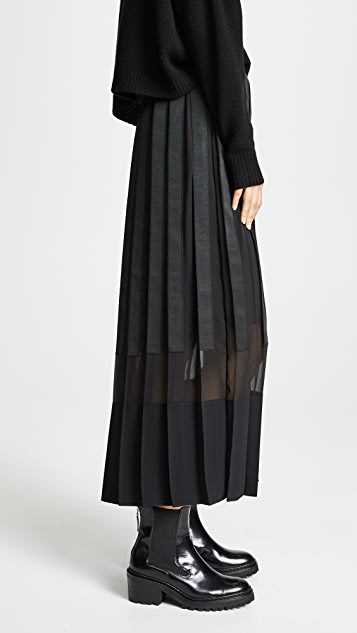 3.1 Phillip Lim Grosgrain Pleated Skirt