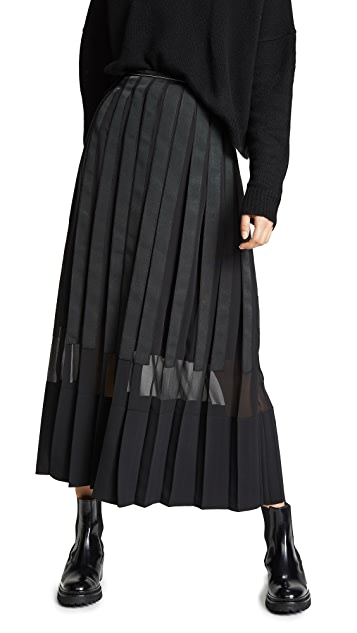 3.1 Phillip Lim Grosgrain Pleated Skirt