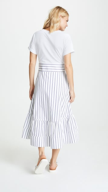 3.1 Phillip Lim Short Sleeve Dress with Corset Waist