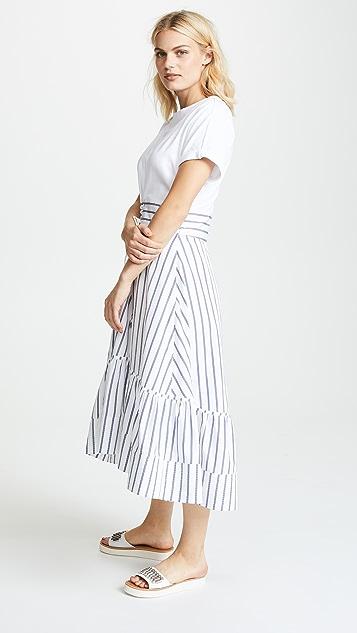 3.1 Phillip Lim Short Sleeve Dress with Corset Waist
