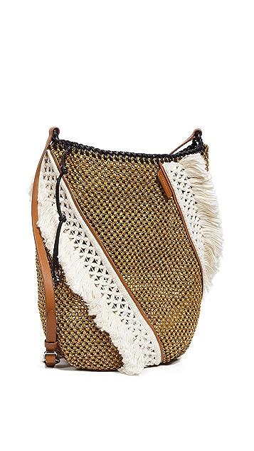 3.1 Phillip Lim Marlee Open Weave Bag With Fringe