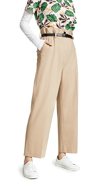 3.1 Phillip Lim Paper Bag Wool Cropped Pants