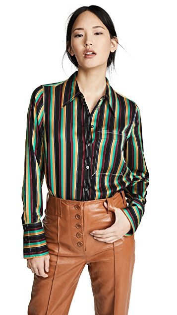 3.1 Phillip Lim Рубашка в полоску с карманом