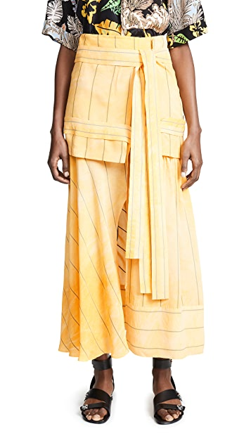 3.1 Phillip Lim Maxi Striped Skirt with Front Tie