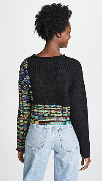 3.1 Phillip Lim Space Dye Cropped Pullover