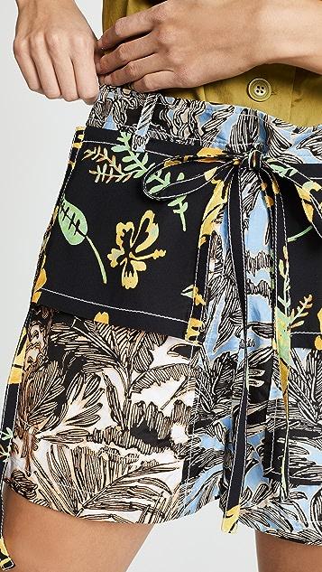 3.1 Phillip Lim Patchwork Shorts