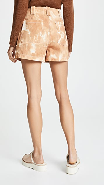 3.1 Phillip Lim Tie Dye Denim Cargo Shorts