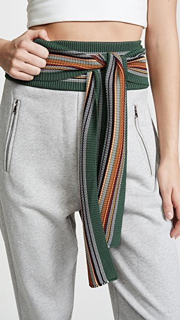 3.1 Phillip Lim Multi Stripe Rib Sweatpants
