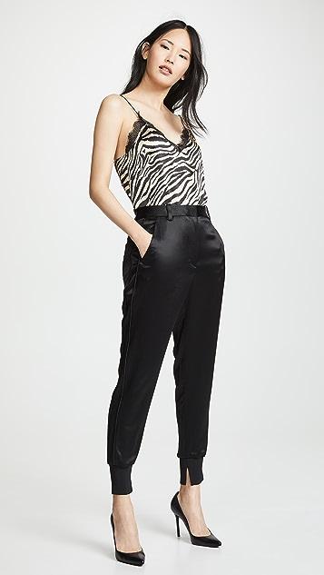 3.1 Phillip Lim Спортивные брюки со вставками по бокам в рубчик