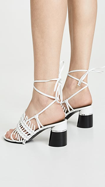 3.1 Phillip Lim Drum 70mm Crochet Sandals