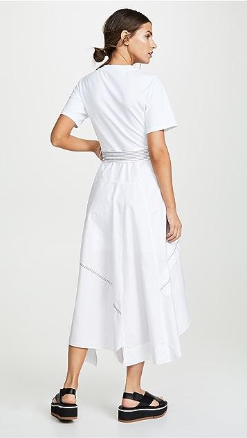 3.1 Phillip Lim T-Shirt Combo Poplin Dress