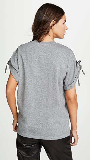 3.1 Phillip Lim Short Sleeve T-Shirt with Sleeve Ties