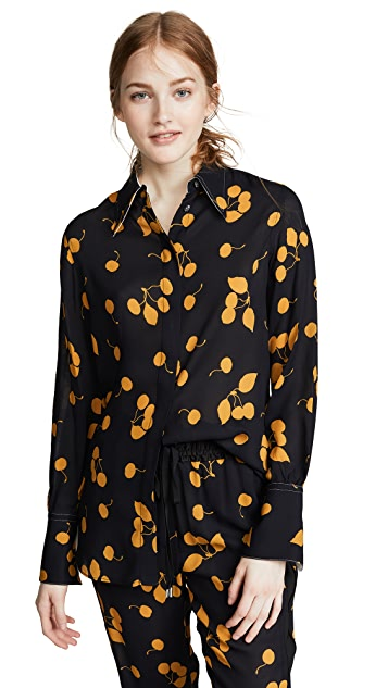 3.1 Phillip Lim Collared Printed Blouse