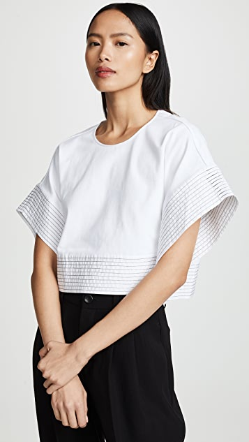 521d9cf1e017bf 3.1 Phillip Lim Boxy T-Shirt with Back Ties | SHOPBOP