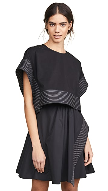 3.1 Phillip Lim Poplin Box Cropped Top Dress