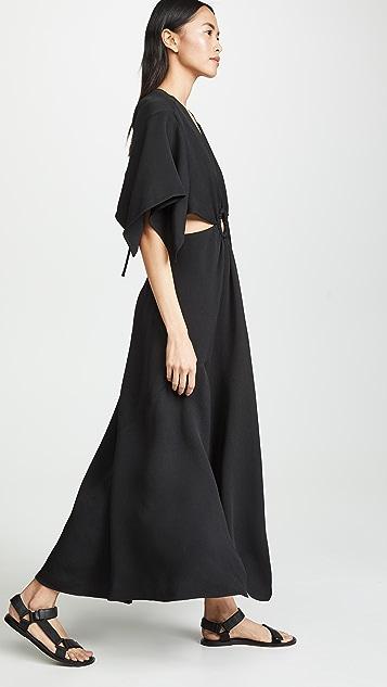 3.1 Phillip Lim Short Sleeve Crepe Maxi Dress
