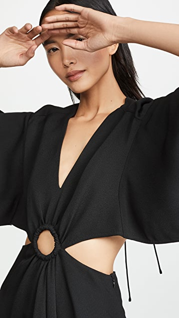 3.1 Phillip Lim 短袖绉绸长连衣裙