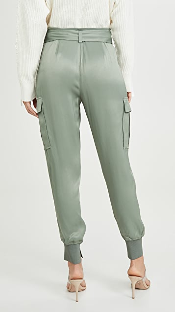 3.1 Phillip Lim Satin Fold Over Waist Joggers