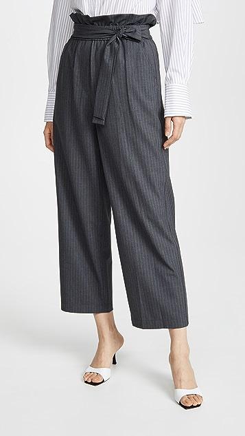 3.1 Phillip Lim Укороченные брюки с выступающим верхним краем