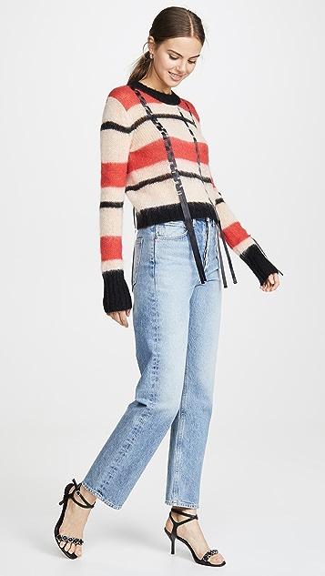 3.1 Phillip Lim 马海毛条纹圆领套衫