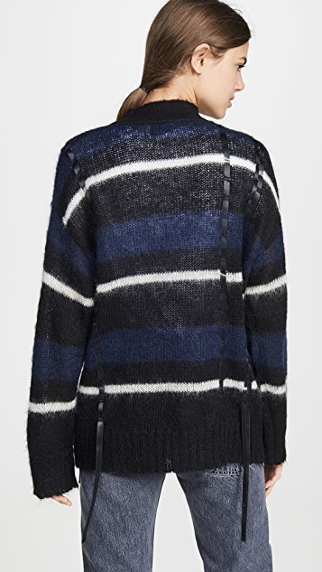 3.1 Phillip Lim Oversized Mohair Striped Cardigan