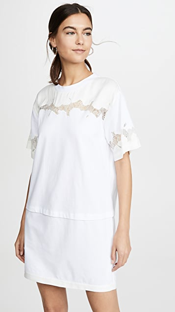 Satin & Lace T Shirt Dress by 3.1 Phillip Lim
