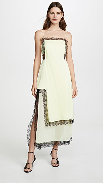3.1 Phillip Lim Square Front Slit Dress with Lace
