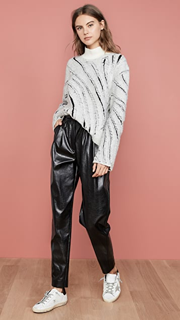 3.1 Phillip Lim Zebra Fringe Turtleneck