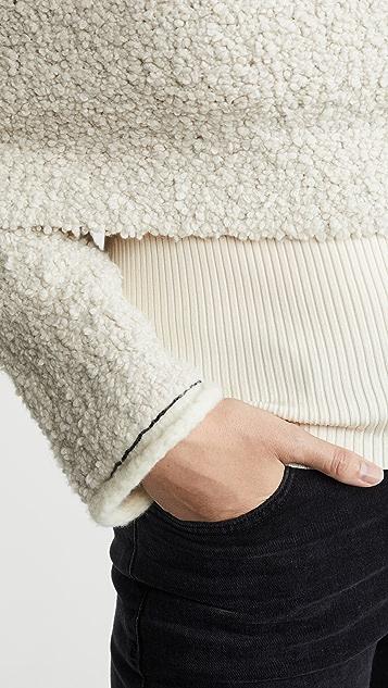 3.1 Phillip Lim Пуловер из букле с открытыми плечами