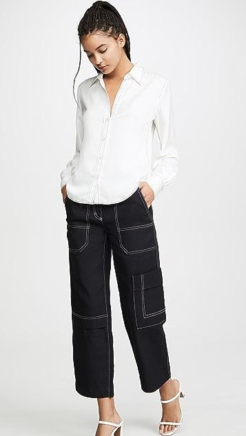 3.1 Phillip Lim Узкие брюки-карго из денима