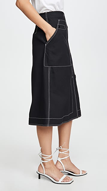 3.1 Phillip Lim High Waisted Midi Skirt