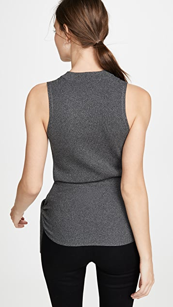 3.1 Phillip Lim Sleeveless Metallic Pullover with Tie