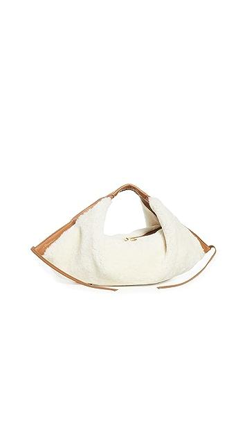 3.1 Phillip Lim Luna Mini Shearling Slouchy Hobo Bag