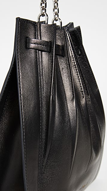 3.1 Phillip Lim Объемная сумка с короткими ручками на завязке со складками Florence