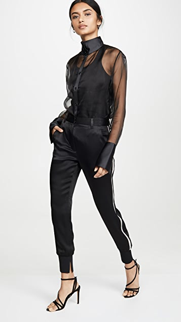 3.1 Phillip Lim Joggers with Rib Side Panel