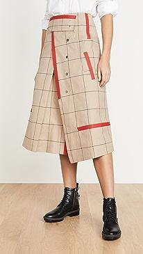 Window Pane Trench Skirt