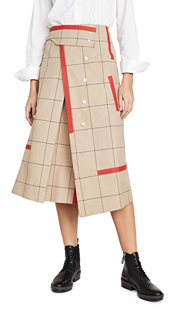 3.1 Phillip Lim Window Pane Trench Skirt