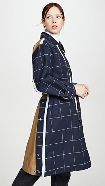 3.1 Phillip Lim Window Pane Trench with Side Slit