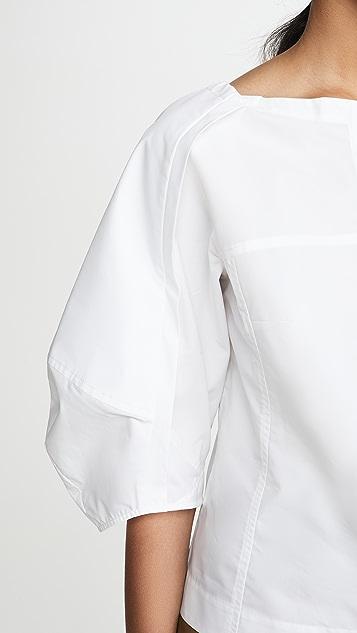 3.1 Phillip Lim Топ с объемными рукавами и молнией спереди
