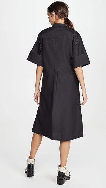 3.1 Phillip Lim Multimedia Dress with Pleated Hem