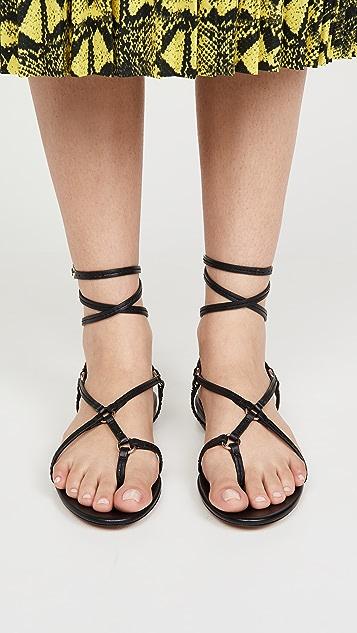 3.1 Phillip Lim Louise 绑带平底凉鞋