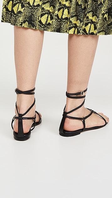 3.1 Phillip Lim Louise Strappy Flat Sandals