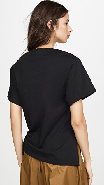 3.1 Phillip Lim Short Sleeve T-Shirt with Gathered Ring