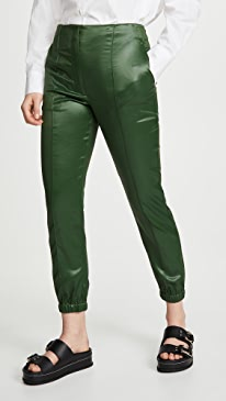 Lacquered Tailoring Joggers with Ghost Waistband