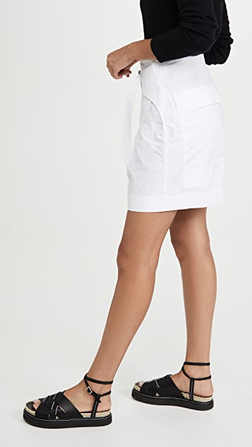 3.1 Phillip Lim Utility Belted High Waist Shorts