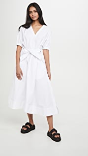 3.1 Phillip Lim Utility Belted Dress with Gathered Sleeves