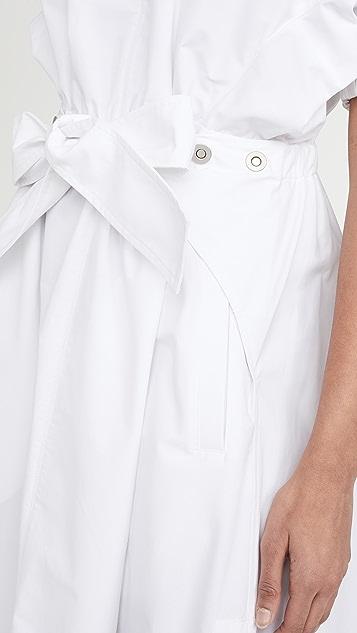 3.1 Phillip Lim 褶皱袖实穿系腰带连衣裙