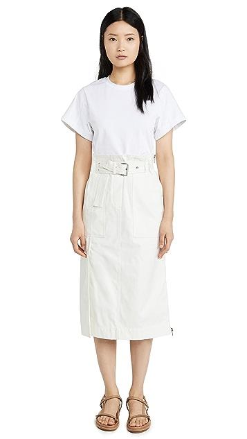 3.1 Phillip Lim 配有腰带的工装连衣裙